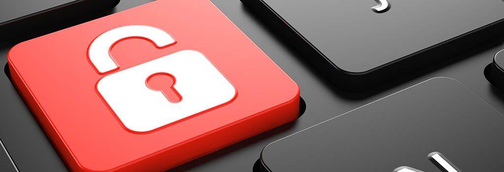 Schutz Tastatur mit Schloss-Symbol Ransomware
